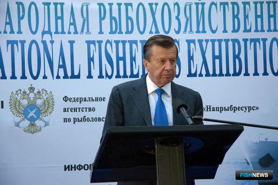 """Первый вице-премьер Виктор ЗУБКОВ открывает выставку """"Экспофиш 2011"""""""