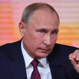 Глава государства Владимир ПУТИН на пресс-конференции 14 декабря. Фото пресс-службы президента