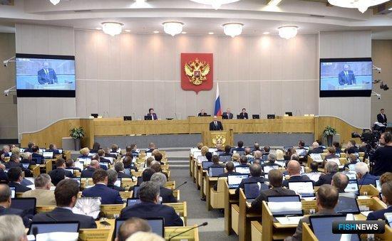 Первое пленарное заседание Госдумы седьмого созыва. Фото пресс-службы Кремля