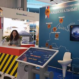 Стенд «Нацрыбресурса» на выставке рыбной индустрии в Санкт-Петербурге. Фото пресс-службы учреждения