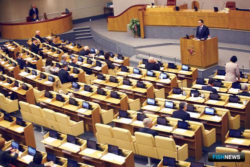 Николай Федоров выступил на заседании Государственной Думы в рамках правительственного часа. Фото пресс-службы Минсельхоза России.
