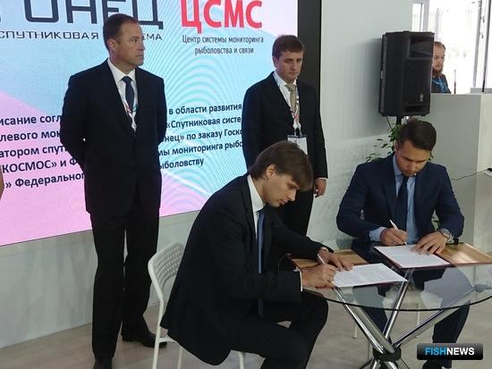 На площадке Восточного экономического форума руководство ЦСМС подписало соглашение о развитии отраслевой системы мониторинга с представителями ОАО «Спутниковая система «Гонец»