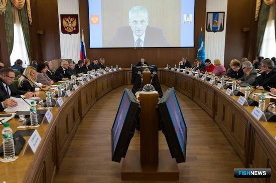 Заседание правительства Сахалинской области. Фото пресс-службы правительства.