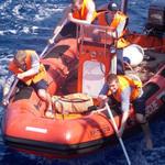 Практиканты «Крузенштерна» поучаствовали в шлюпочной гонке. Фото пресс-службы Балтийской государственной академии рыбопромыслового флота.