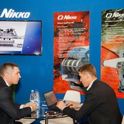 Новый участник выставки – японская фирма Nikko – представила современные машины для обработки рыбы и икры