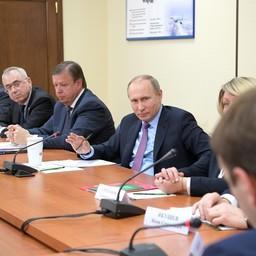 Глава государства Владимир ПУТИН на встрече с представителями бизнес-сообщества Ярославской области. Фото пресс-службы президента