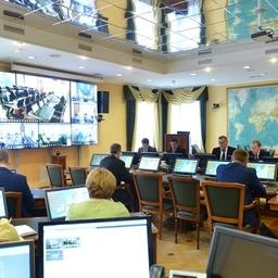 Заседание штаба по организации промысла сардины-иваси, сайры и скумбрии. Фото пресс-службы ФАР