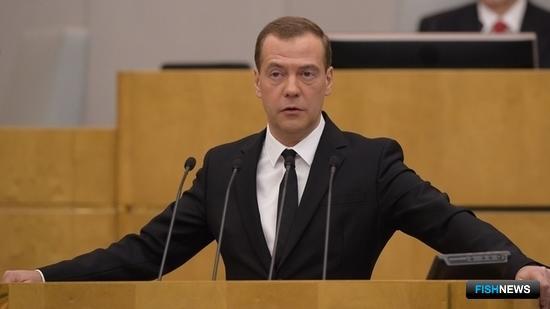 Председатель Правительства РФ Дмитрий МЕДВЕДЕВ на выступлении в Госдуме. Фото пресс-службы кабмина