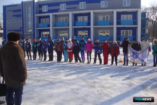 «Рыбацкая лыжня-2015»: построение перед стартами