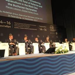 В рамках форума прошла конференция «Новая стратегия развития российской рыбной индустрии». Фото пресс-службы Росрыболовства