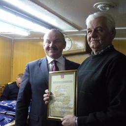 Министерство рыбного и сельского хозяйства Мурманской области вручило награды отличившимся морским спасателям. Фото пресс-службы правительства региона