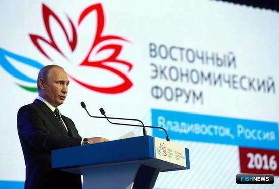 Президент Владимир ПУТИН на Восточном экономическом форуме. Из фотобанка ВЭФ