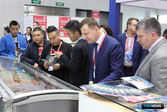 Российский объединенный стенд на рыбохозяйственной выставке в Циндао China Fisheries and Seafood Expo-2017
