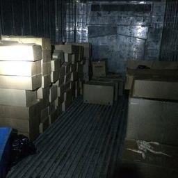 Коробки с крабом в рефрежираторе в Находке. Фото пресс-группы погрануправления ФСБ России по Приморскому краю