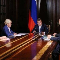 Глава Правительства РФ Дмитрий Медведев провел совещание с вице-премьерами. Фото пресс-службы Правительства России.