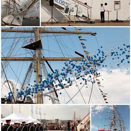На официальном открытии Operation Gdynia Sails 1974-2014: полнопарусный корабль и флагман фестиваля Dar Mlodziezy. Фото Александра Кучерука.