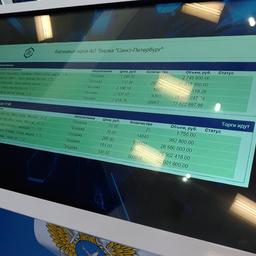 Специальная интерактивная панель позволяла быстро ознакомиться со списком товаров