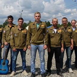Бойцы студенческих отрядов. Фото пресс-службы правительства Камчатского края