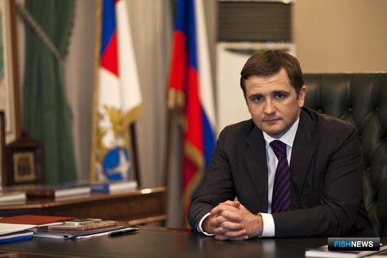 Заместитель министра сельского хозяйства РФ – руководитель Росрыболовства Илья ШЕСТАКОВ