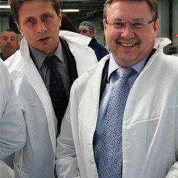 Заместитель губернатора Сахалинской области Сергей ПОДОЛЯН и депутат Государственной Думы Георгий КАРЛОВ
