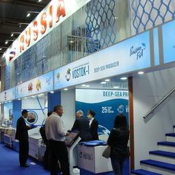 Национальный павильон России объединил два десятка рыбодобывающих и перерабатывающих предприятий