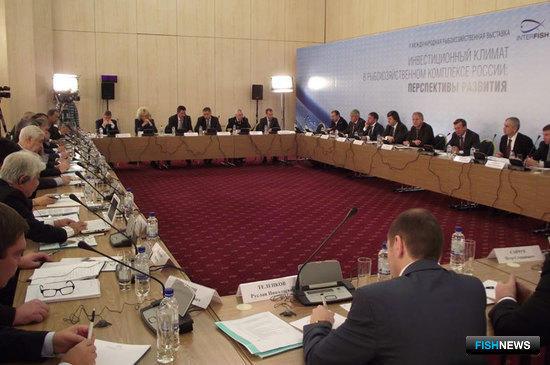 Круглый стол на тему инвестиций в рыбохозяйственный комплекс  РФ в рамках Международной рыбохозяйственной выставки «Интерфиш-2010»
