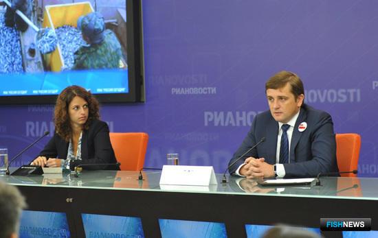 Руководитель Росрыболовства Илья Шестаков провел пресс-конференцию