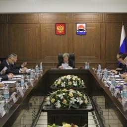 Заседание комиссии по противодействию незаконному обороту промышленной продукции в Камчатском крае. Фото пресс-службы правительства региона
