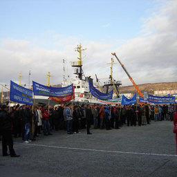 Камчатские рыбаки уже выставляли пикет в ноябре 2009 г.