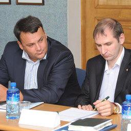 Александр ПОПОВ и Руслан ТЕЛЕНКОВ на собрании Ассоциации добытчиков минтая во Владивостоке