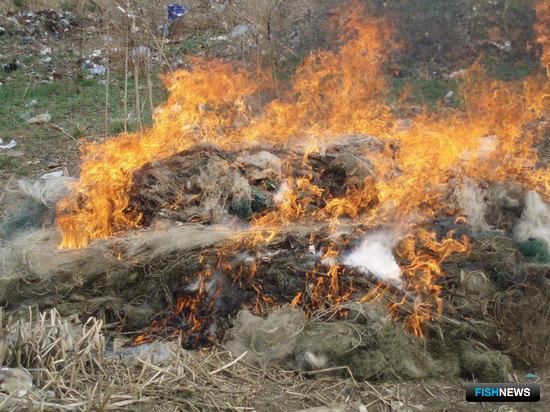 Изъятые у браконьеров орудия лова подлежат уничтожению