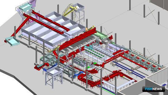 3D проект цеха приема и первичной обработки