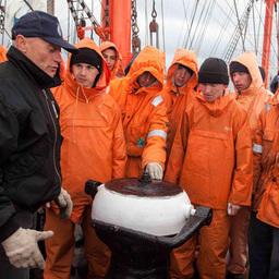 Кругосветное плавание барка «Седов», май 2012. Фото пресс-службы СЗТУ ФАР.