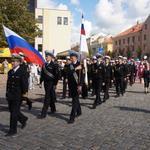 Праздничное шествие курсантов «Крузенштерна» по центральной улице Клайпеды. Фото пресс-службе БГАРФ.