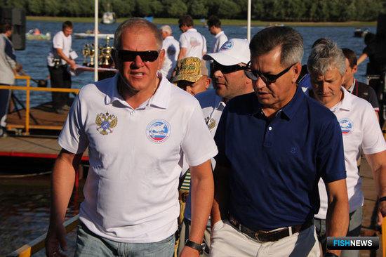 Руководитель Росрыболовства Андрей КРАЙНИЙ и губернатор Астраханской области Александр ЖИЛКИН