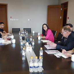 Переговоры с вице-президентом Хейлунцзянского филиала Китайского банка развития Чен Личинем по вопросу кредитования строительства объектов, входящих в Комплекс биржевой и аукционной торговли в Приморском крае