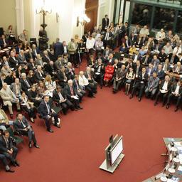 Экономический и инвестиционный потенциал Севастополя стал ключевой темой презентации, состоявшейся в Конгресс-центре Торгово-промышленной палаты РФ. Фото пресс-службы ТПП