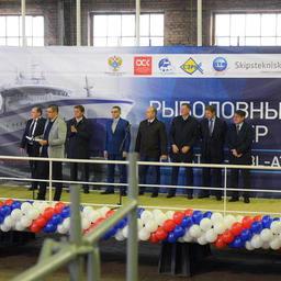 В Выборге заложили первое судно для АТФ. Фото пресс-службы Росрыболовства