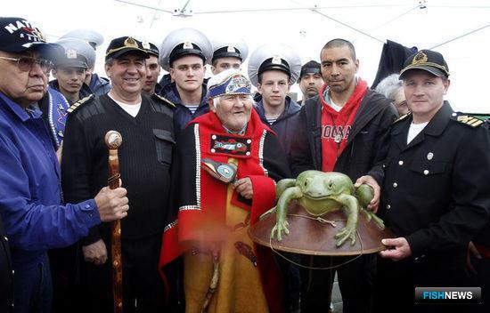 УПС «Паллада» встретили в порту Ситка. Фото предоставлено пресс-службой Дальрыбвтуза.