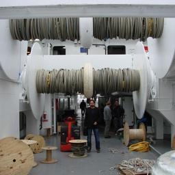 Рисунок 1 – Промысловая палуба. Вид на бак
