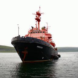 Активное участие в учениях принимало спасательное судно «Микула». Фото ФГБУ «Северный экспедиционный отряд аварийно-спасательных работ» Росрыболовства
