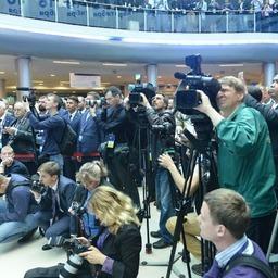 На мероприятии присутствовало более 100 российских и иностранных журналистов. Фото пресс-службы Росрыболовства