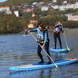 По Култучному озеру можно было прокатиться на сапах. Фото пресс-службы правительства Камчатки