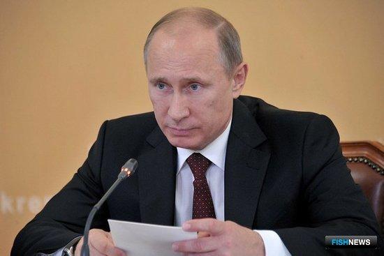 Президент РФ Владимир ПУТИН на совещании по вопросам развития Сахалинской области. Фото пресс-службы Кремля.