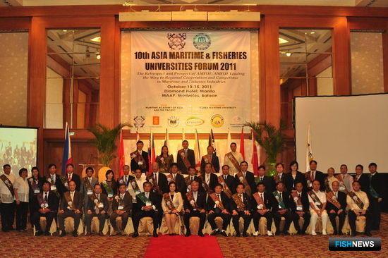 10-й форум азиатских морских и рыбохозяйственных университетов (AMFUF), Филиппины. Фото предоставлено Дальрыбвтузом.