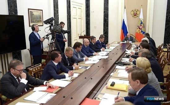 Президент Владимир ПУТИН провел совещание с членами Правительства. Фото пресс-службы Кремля