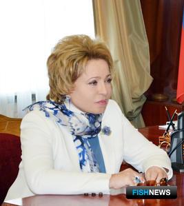 Председатель Совета Федерации Валентина МАТВИЕНКО. Фото пресс-службы СФ