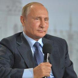 Глава государства Владимир ПУТИН на форуме ОНФ «Форум действия. Крым» в Ялте. Фото пресс-службы президента