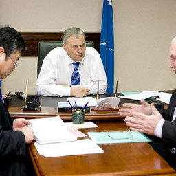 Рабочая встреча Александра Хоршавина с председателем областного Рыбакколхозсоюза