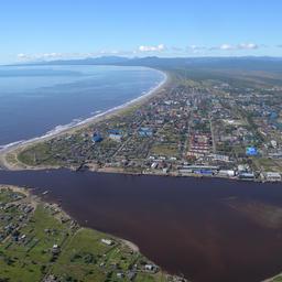 Вид на порт Поронайск
